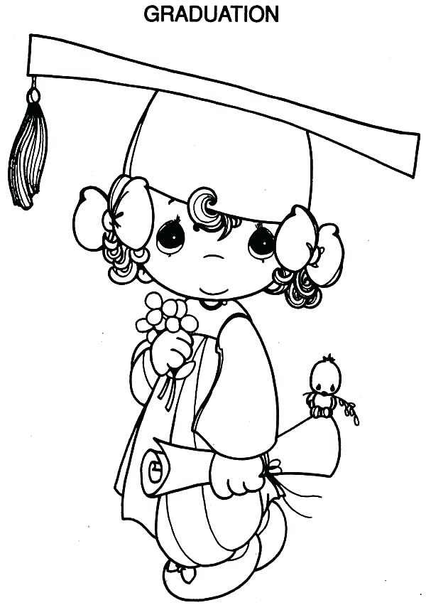 600x858 Graduation Coloring Pages Printable Graduation Hats Coloring