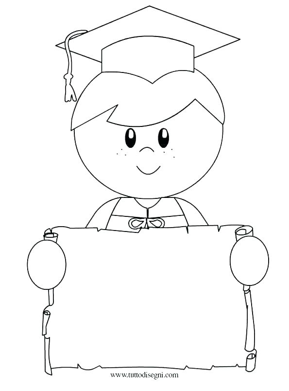 595x804 Kindergarten Graduation Coloring Pages Kindergarten Graduation