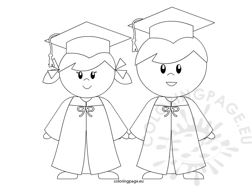 804x595 Kindergarten Graduation Coloring Page For Preschool