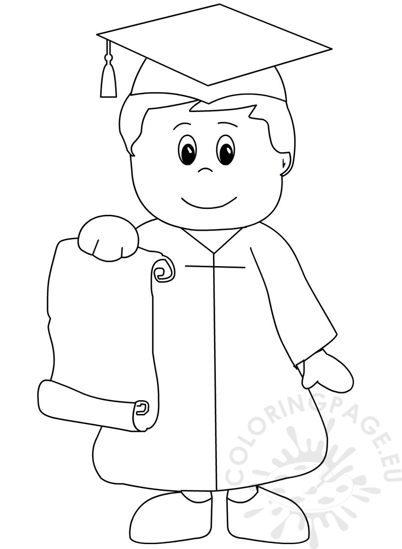 821x1122 Best Graduation Coloring Pages Obsession Kindergarten Page