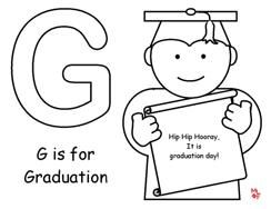 244x188 G Is For Graduation Coloring Page For Graduation Theme