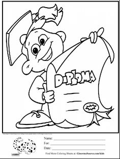 236x313 Graduation Coloring Page For Preschool And Kindergarten