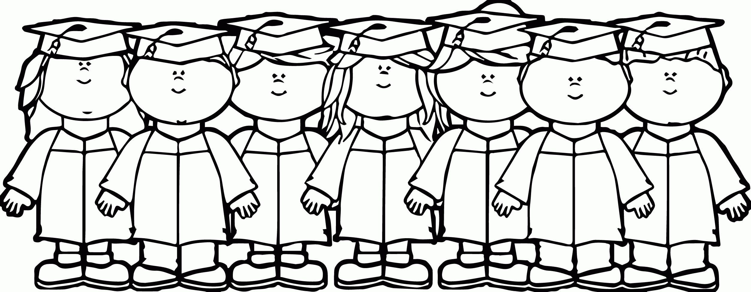 2506x977 Graduation Coloring Pages