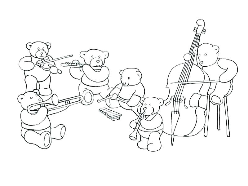 800x600 Instrument Coloring Pages Instrument Coloring Sheets Music