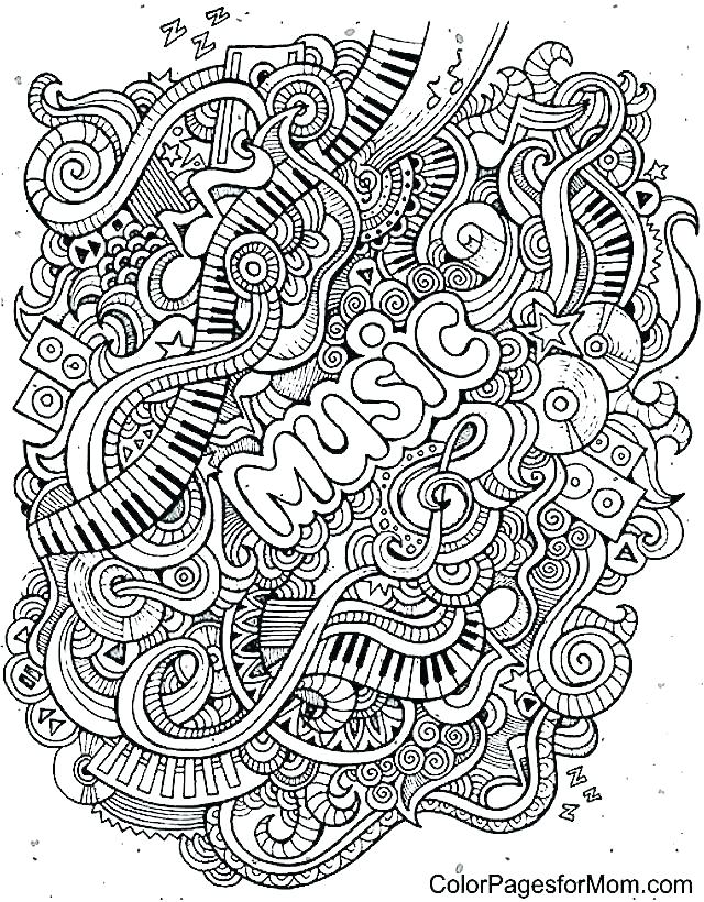 640x820 Music Coloring Pages For Kindergarten Coloring Pages Of Music