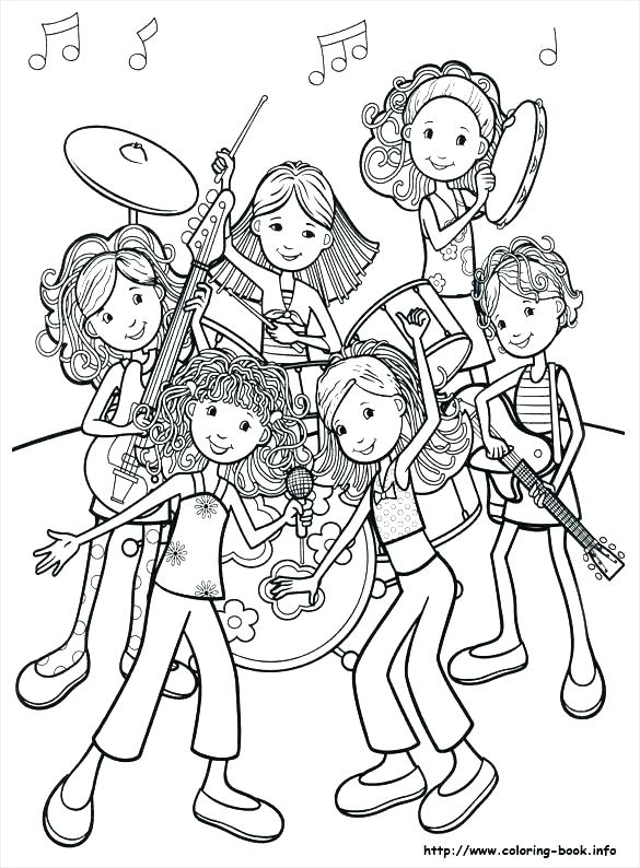 585x794 Music Coloring Pages For Kindergarten Music Coloring Pages Music