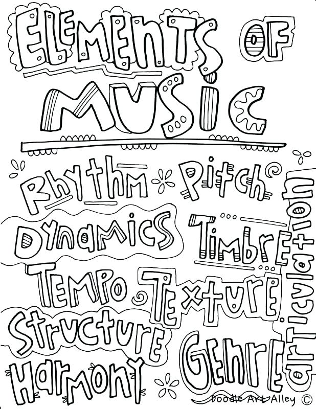 618x800 Music Coloring Pages Printable Free Music Coloring Pages Printab