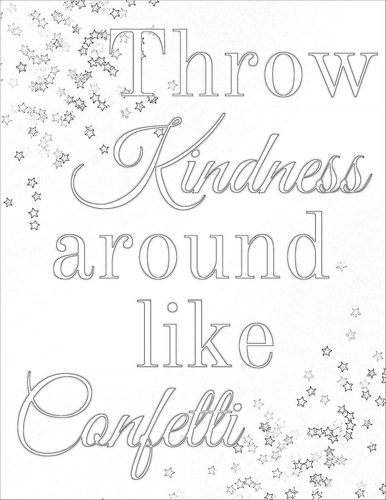 Kindness Coloring Pages At Getdrawings Com Free For Personal Use