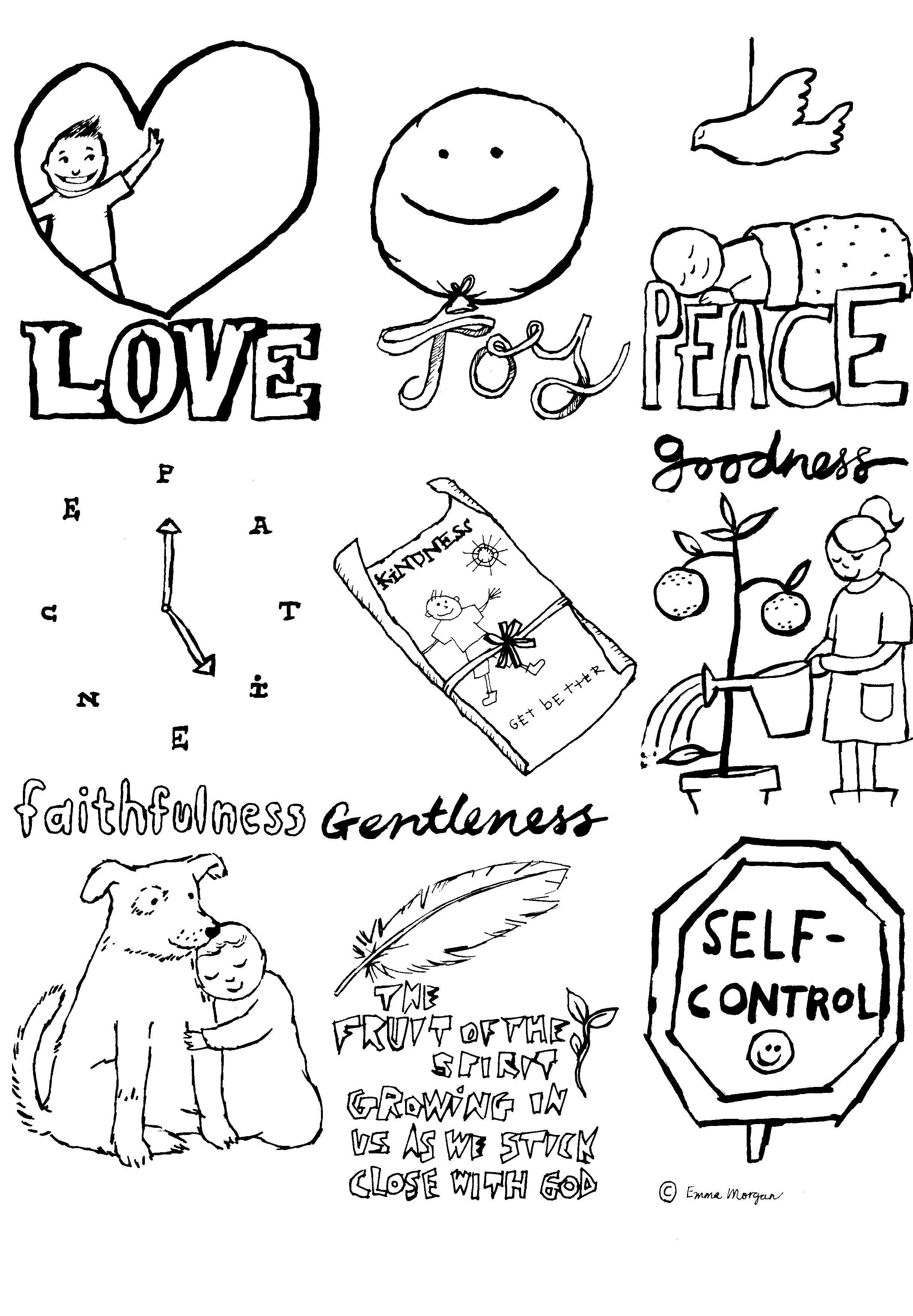 2432x3504 Kindness Coloring Pages
