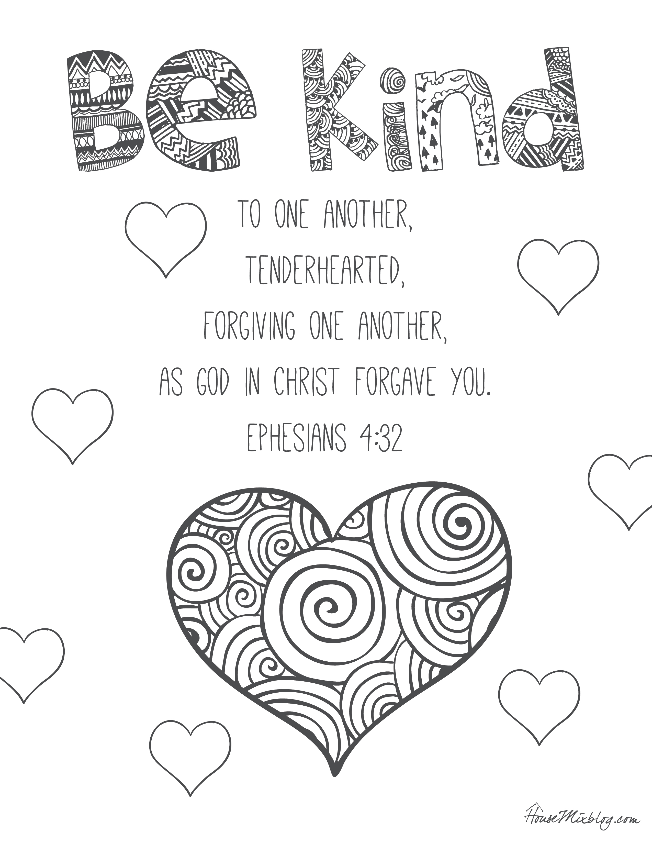 2550x3300 Kindness Coloring Pages Discover All