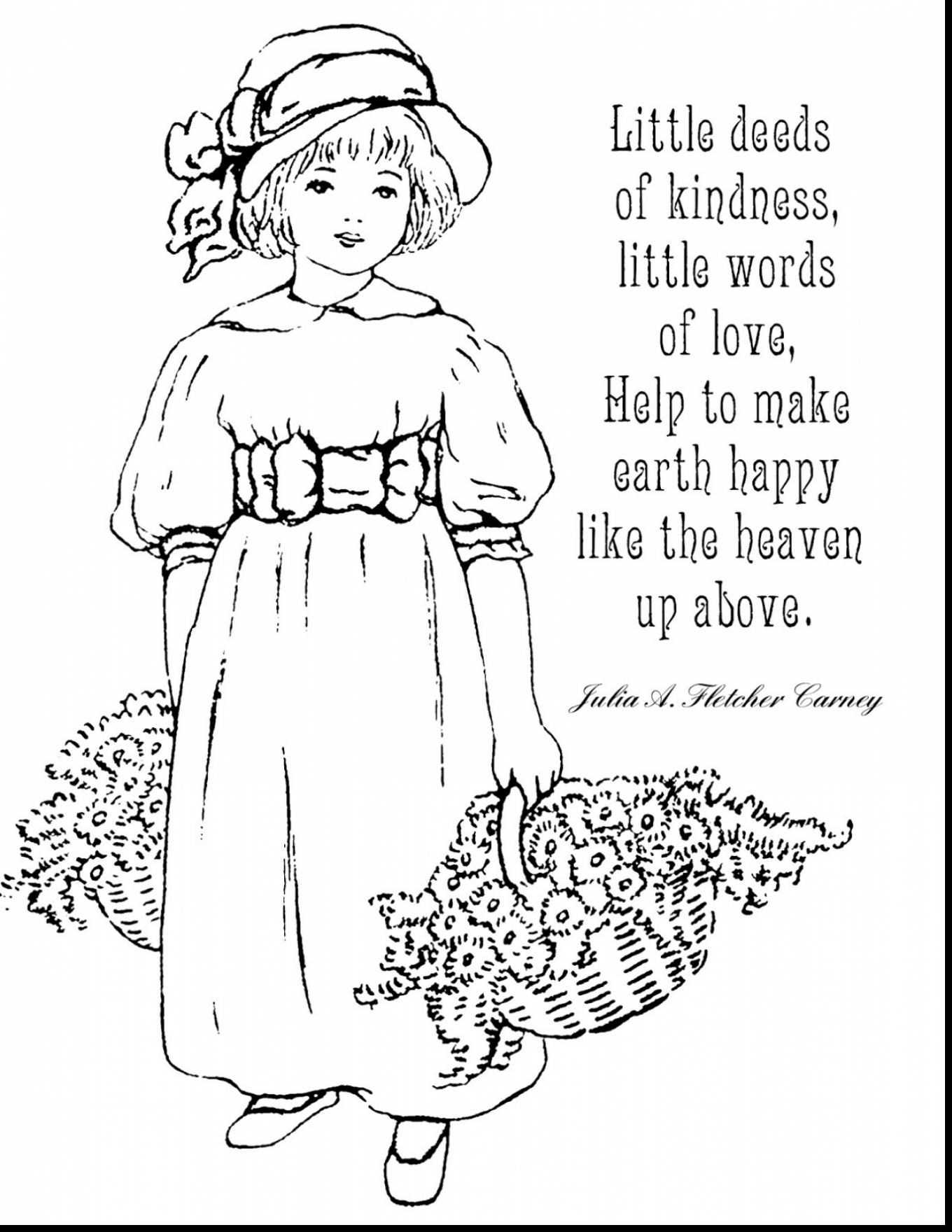 1360x1760 Kindness Coloring Pages Printable