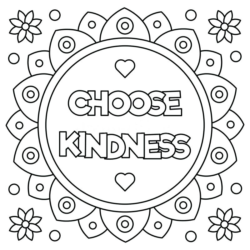 800x800 Kindness Coloring Pages Printable On Kindness Coloring Pages