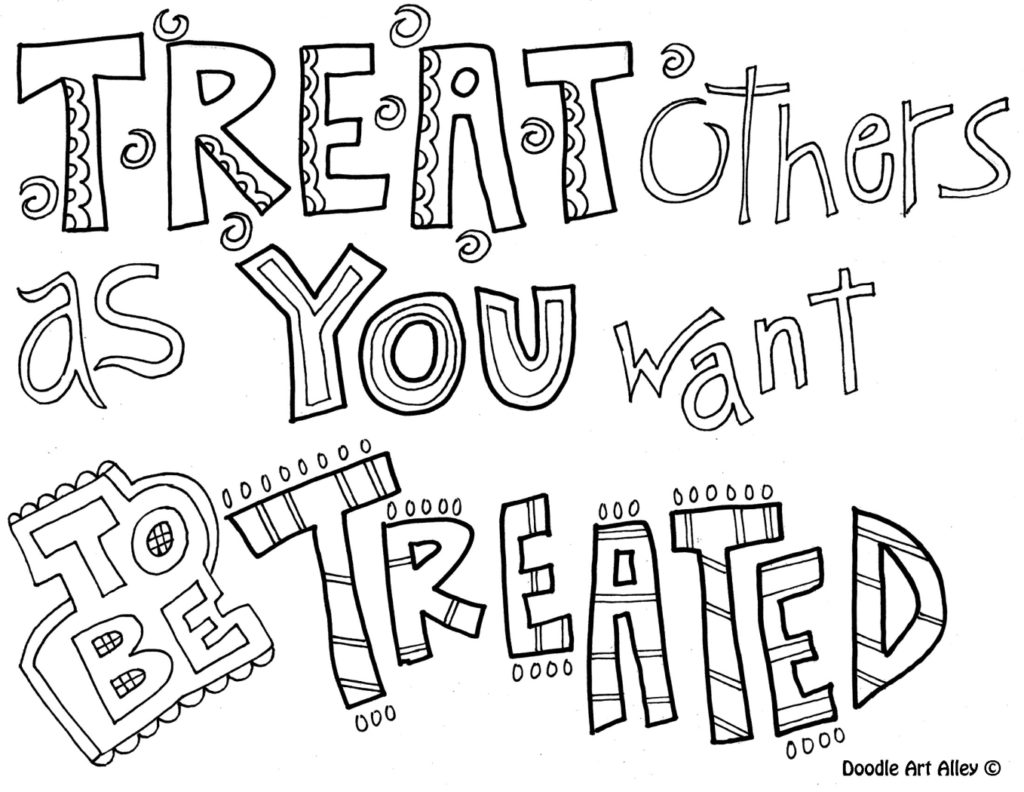 1024x792 Kindness Coloring Pages Printable Respect Sheets Portfolio