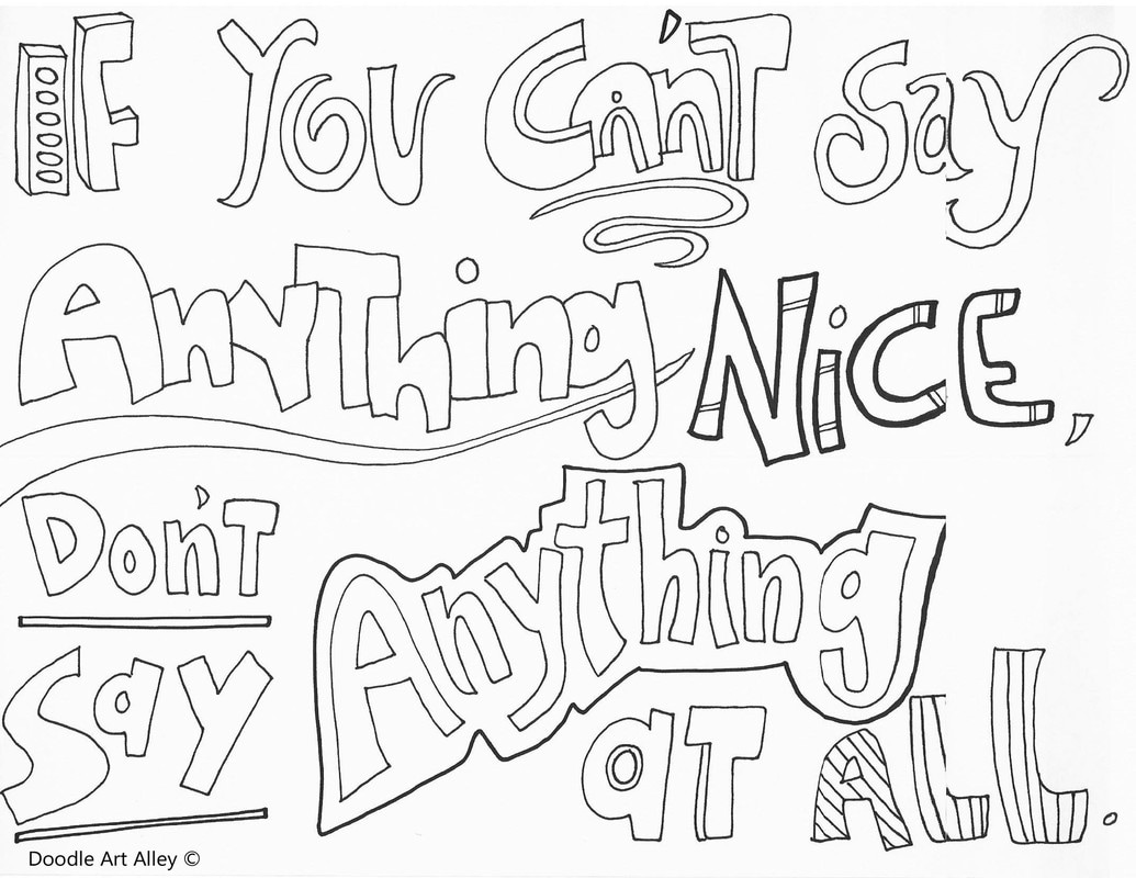 1035x800 Kindness Quote Coloring Pages