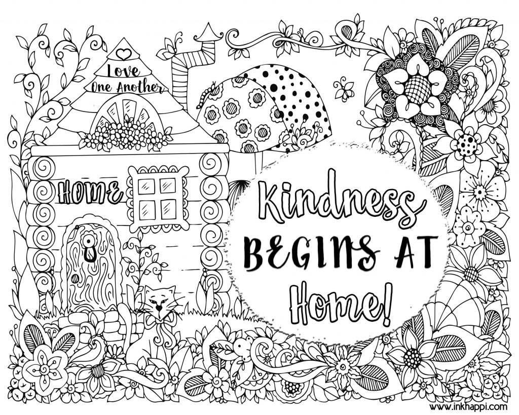 1024x819 Free Coloring Pages Showing Kindness Copy Word Kindness Coloring
