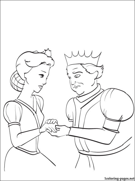 560x750 King And Queen Of Shrek Line Drawing Coloring Pages