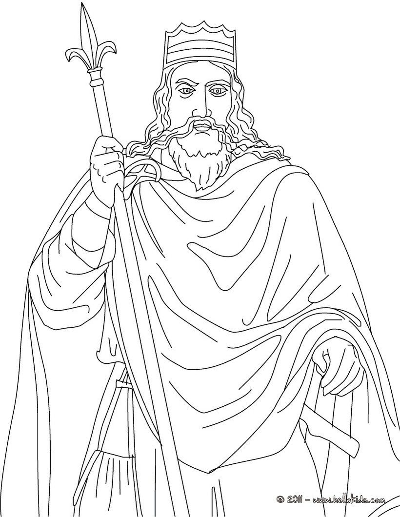 820x1060 King Charlemagne Coloring Pages