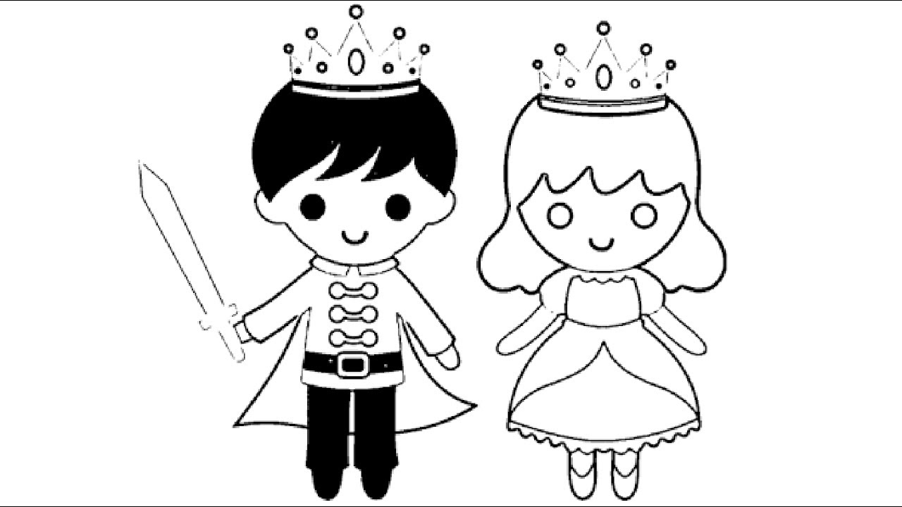 1280x720 Little Boy King And Little Girl Queen Coloring Pages L Kids