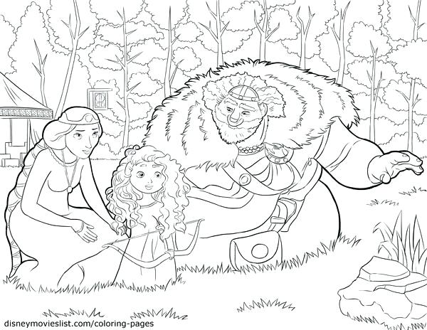 600x464 Disney Brave Coloring Pages Printable Brave King Queen Baby