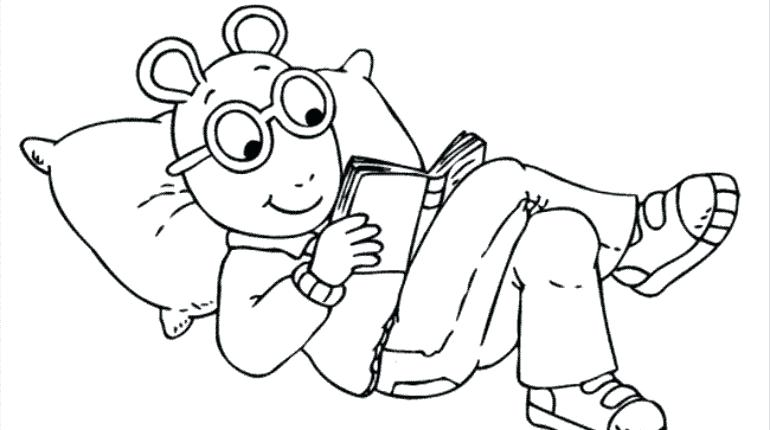 770x430 Arthur Coloring Pages Riding A Bicycle In Coloring Page King