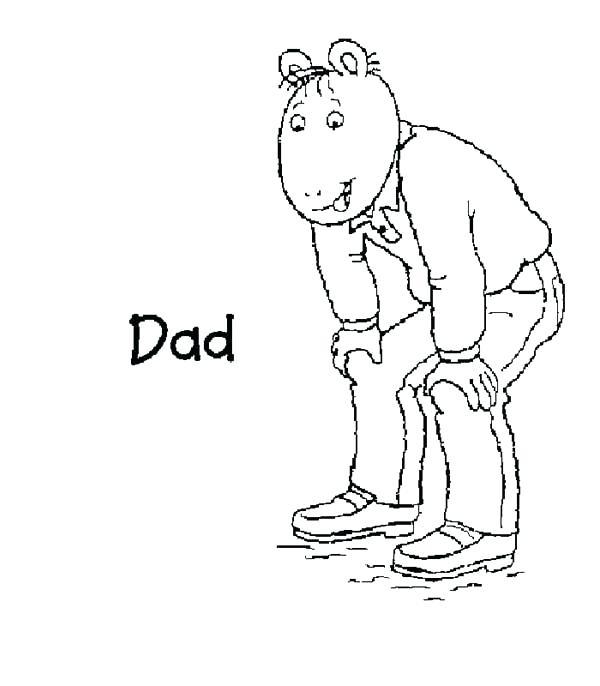 600x686 Dad Read Coloring Page Coloring Sun Dad Read Coloring Page Free