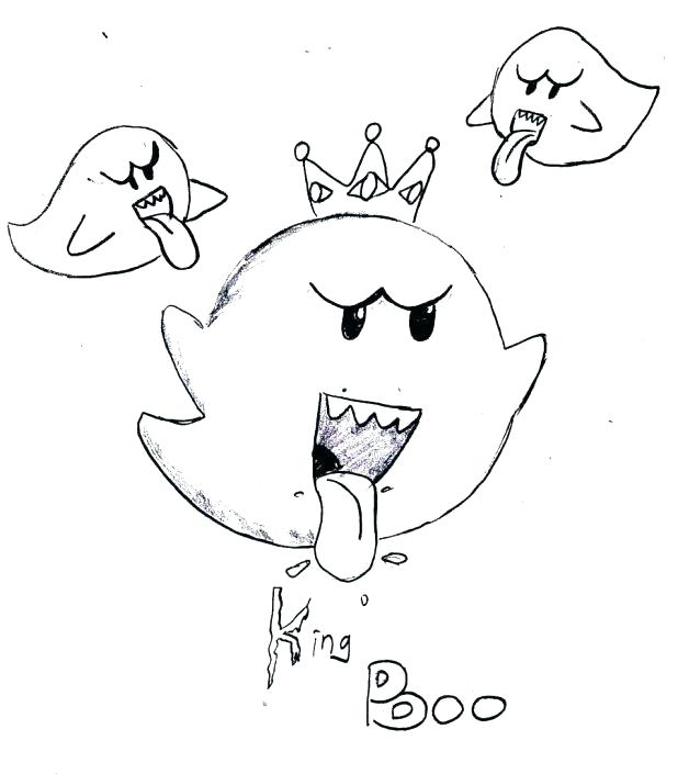 618x705 King Boo Coloring Pages Daisy Trapped In King Boo