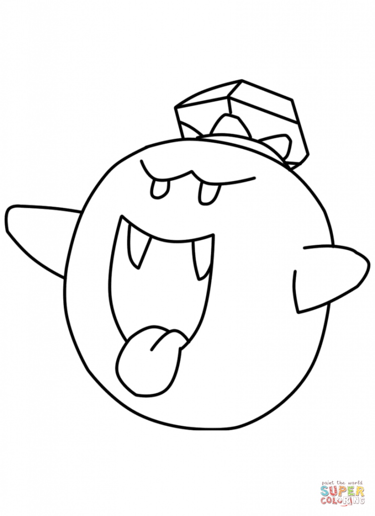 745x1024 King Boo Coloring Pages Download