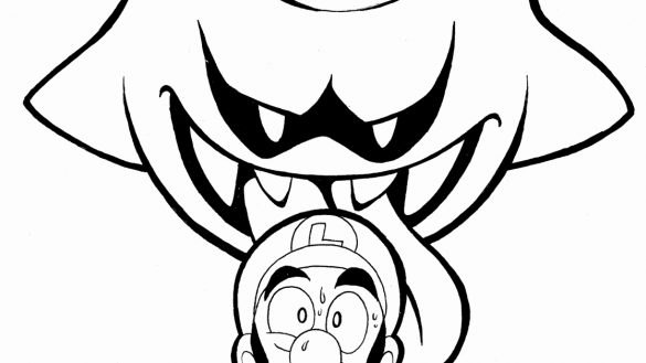 585x329 King Boo Coloring Pages Free Boo Coloring Pages