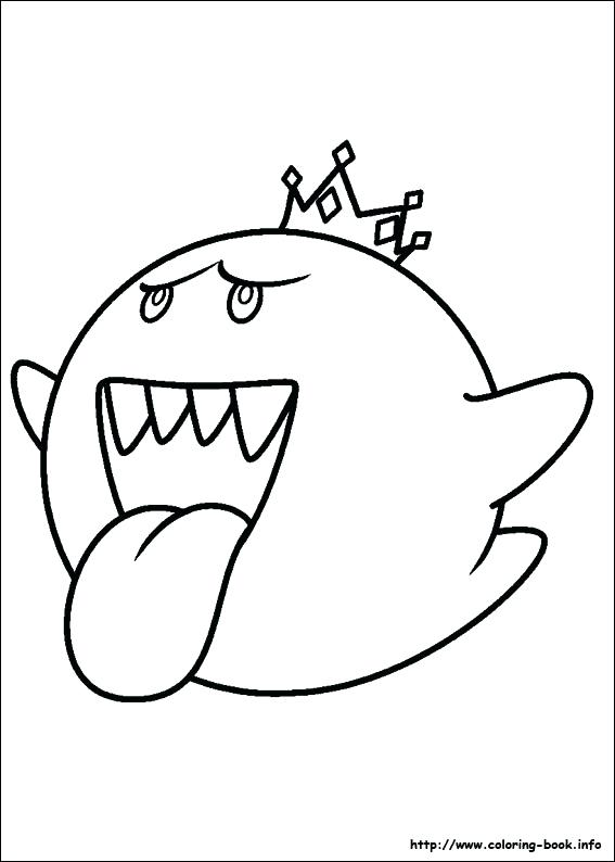 567x794 Mario Coloring Pages King Boo Coloring Pages Boo Coloring Pages