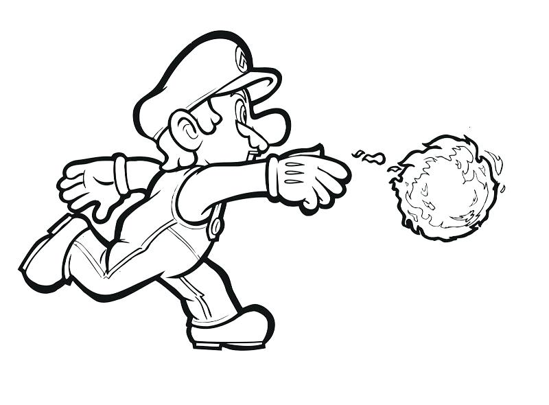 800x590 Mario Kart King Boo Coloring Pages Character Best