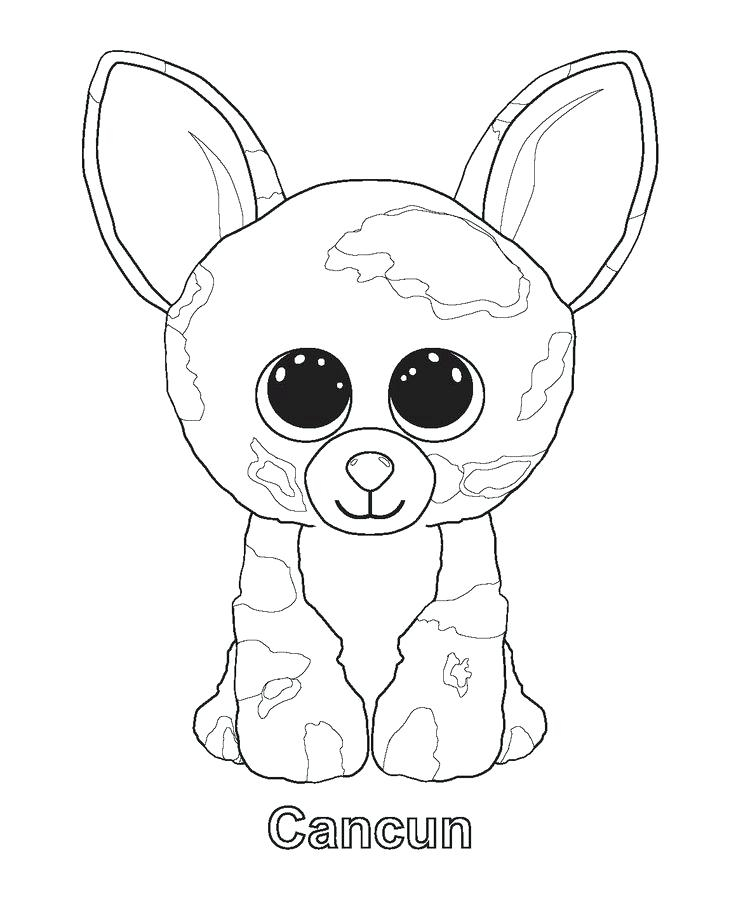 736x900 Ty Beanie Boos Coloring Pages Delectable Beanie Boo Coloring Pages