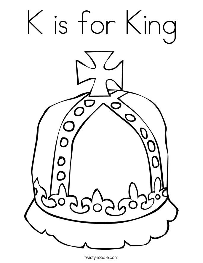 685x886 K Is For King Coloring Page