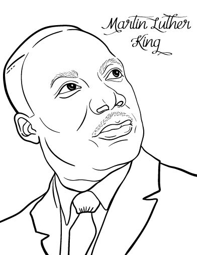 392x507 Martin Luther King Jr Coloring Pages And Worksheets