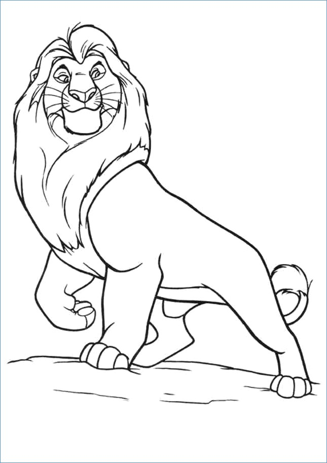 645x912 Mufasa The Lion King Coloring Page