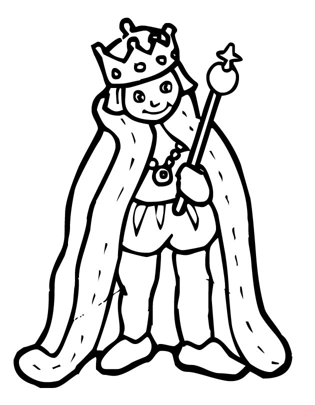 630x810 Printable King Coloring Page