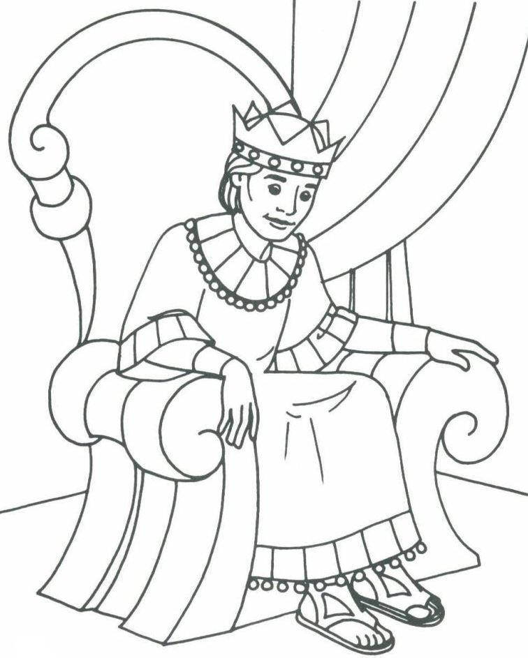756x943 Bible David As King Coloring Pages Bible Class Ideas