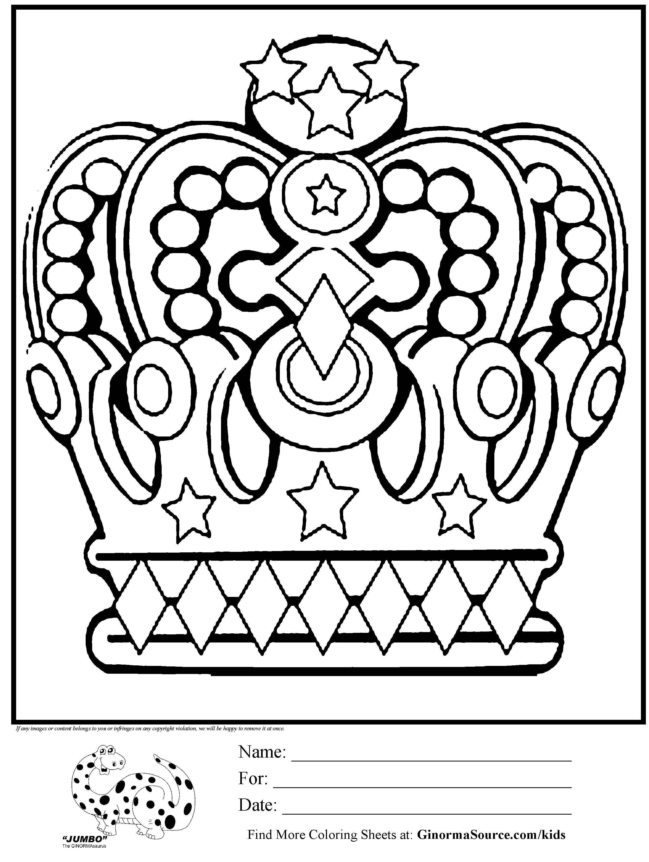 It's just a picture of Crown Coloring Pages Printable inside full page