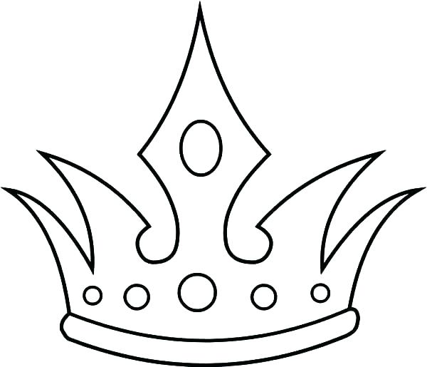 600x515 Crown Coloring Pages Tiara Coloring Page Princess Crown Coloring