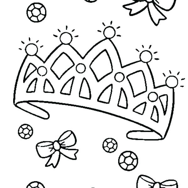 600x600 Crown Coloring Pages Tiara Coloring Page Tiara Coloring Page King