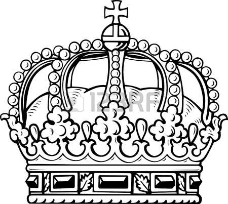 450x403 King Crown Coloring Page