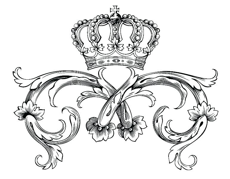 771x600 Princess Crown Coloring Pages Printable King Crown Coloring Page