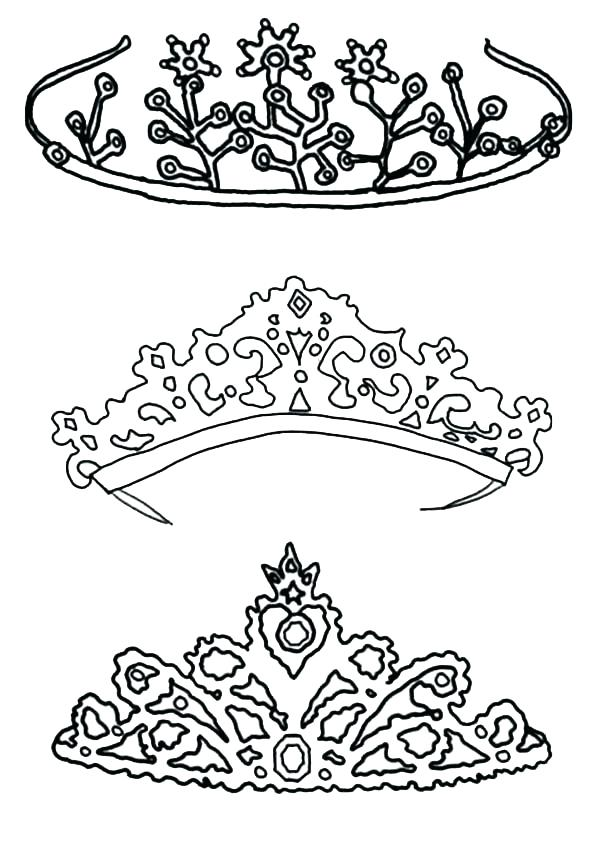 600x844 Tiara Coloring Page Crown Coloring Pages Type Of Princess Crown