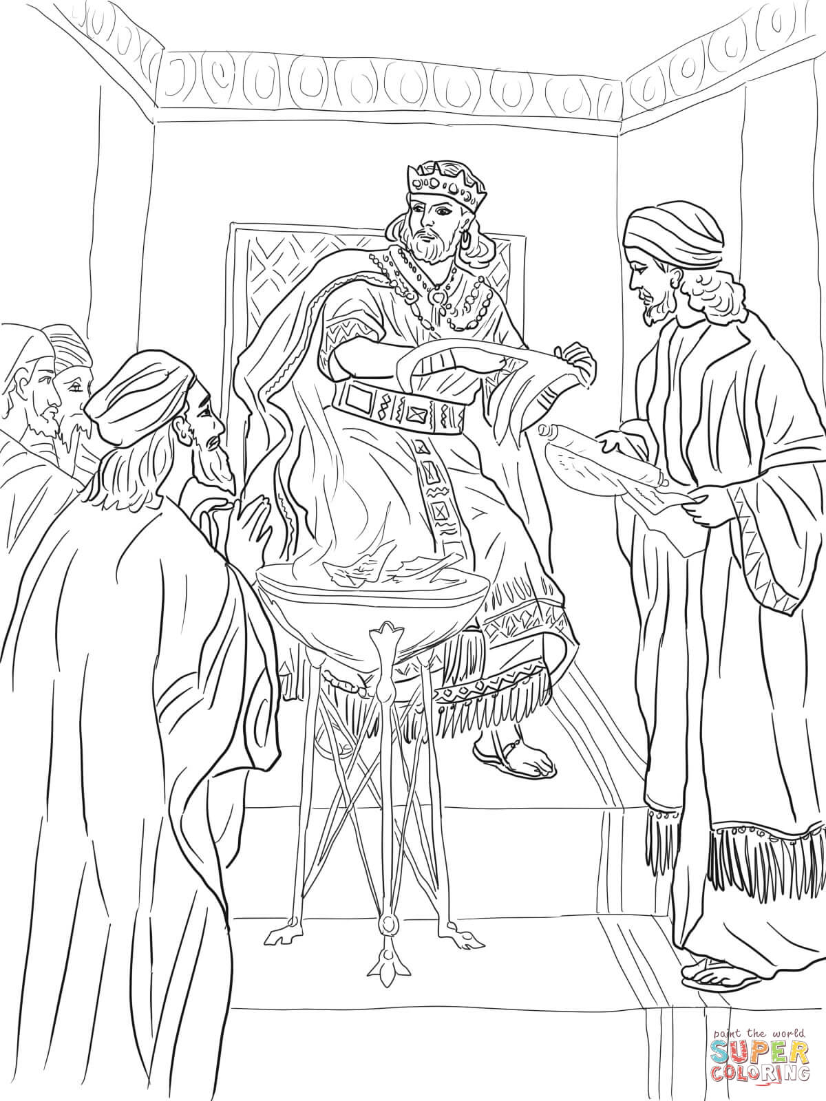 1200x1600 Free Coloring Pages Of King Josiah Copy King Jehoiakim Burns
