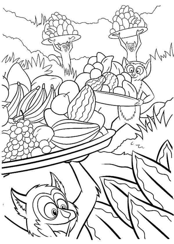 600x840 King Julien The King Of Lemur Coloring Page Color Luna