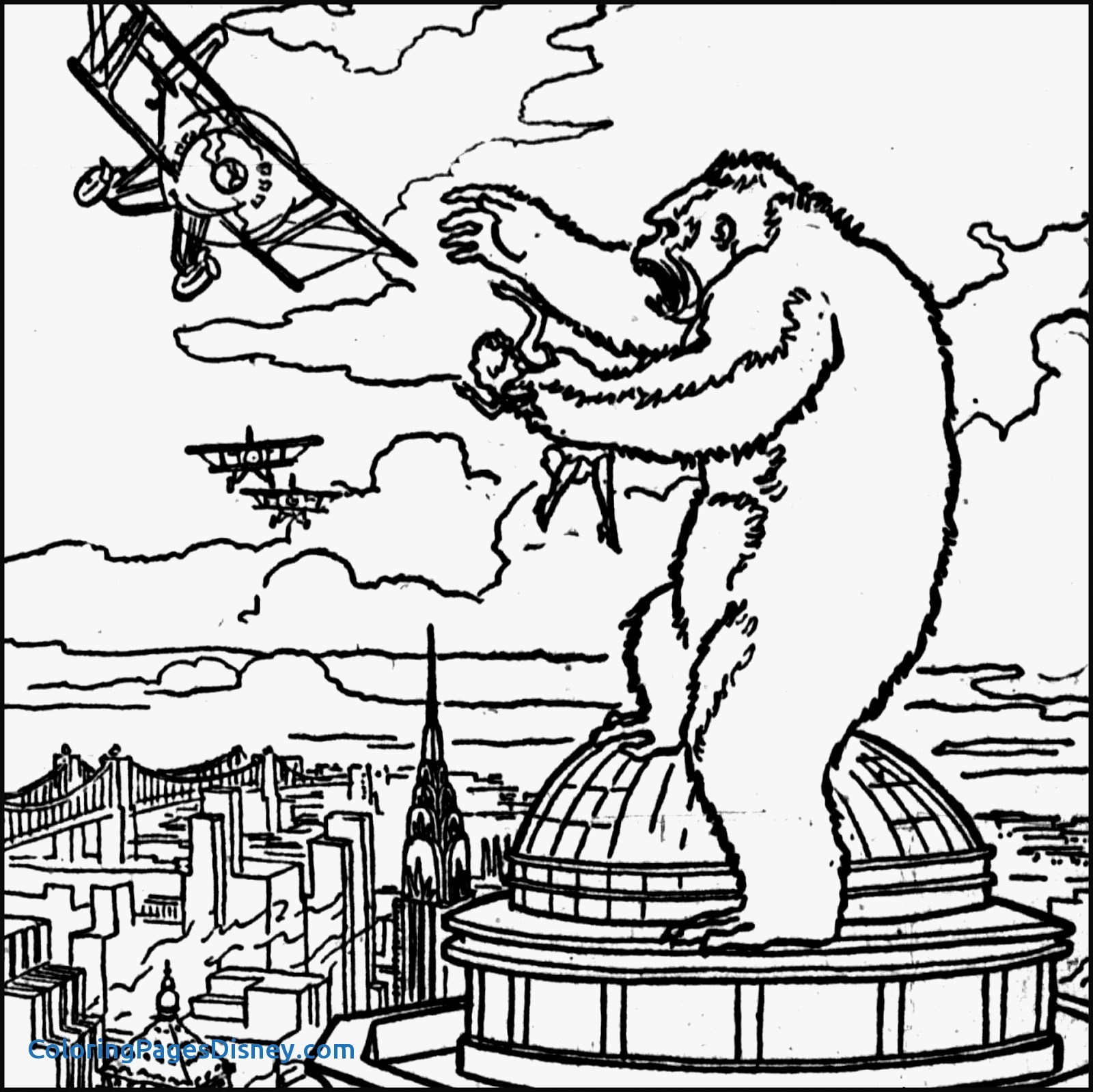 King Kong Coloring Pages At Getdrawings Com Free For