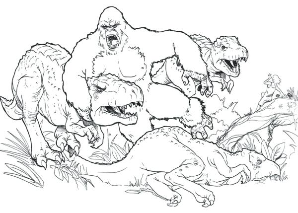 King Kong Coloring Pages At Getdrawings Free Download