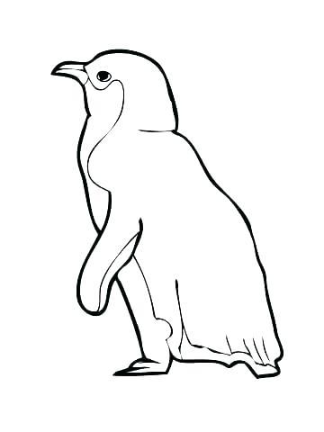 360x480 Emperor Penguin Coloring Page