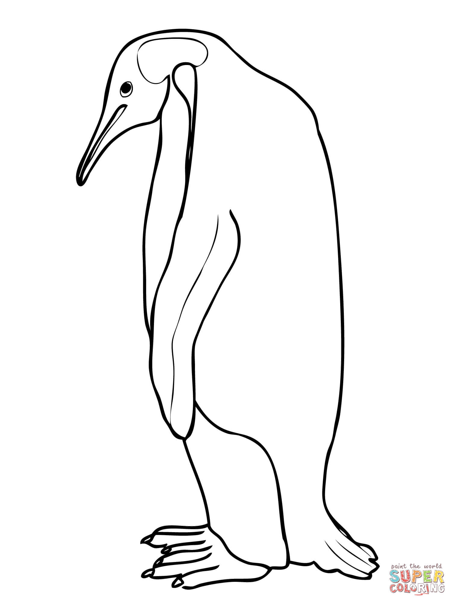 1500x2000 Brilliant Ideas Of King Penguin Coloring Pages For Emperor Penguin