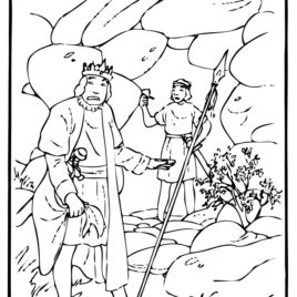 King Saul Coloring Page