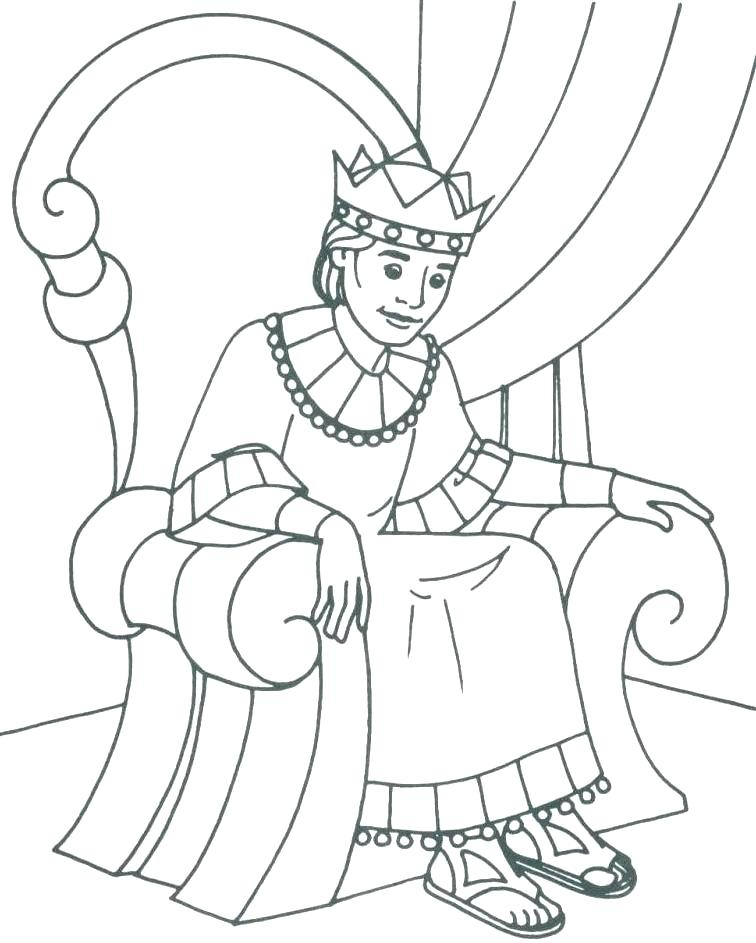 756x943 King Saul Coloring Page King Coloring Page Throne King And King